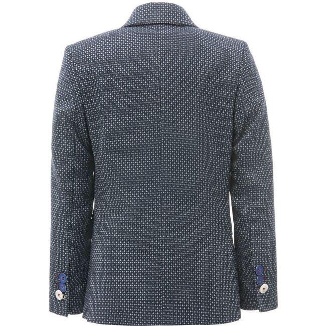 Embroidered Formal Blazer, Navy