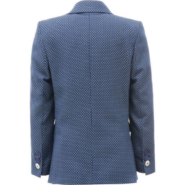 Embroidered Formal Blazer, Blue