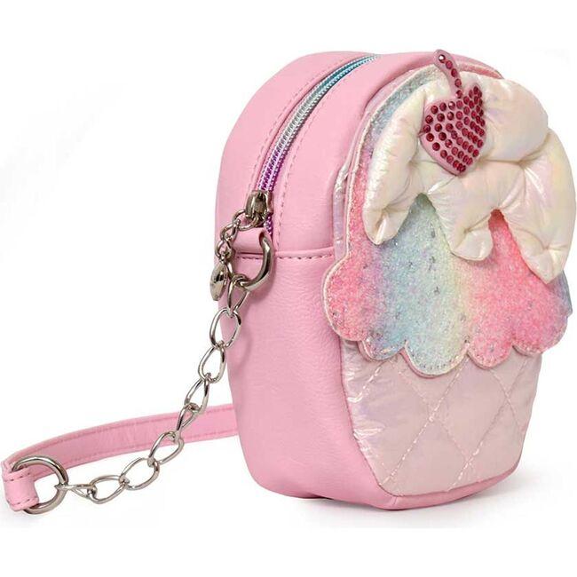 Puffer Cupcake Crossbody, Pink