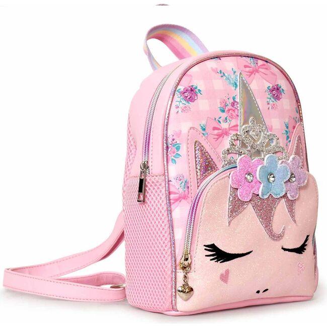 Miss Gwen Floral Gingham Print Mini Backpack, Pink