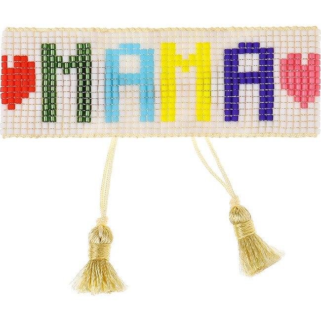 Women's MAMA Beaded Bracelet, Rainbow