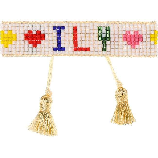Kids Beaded Bracelet, ILY