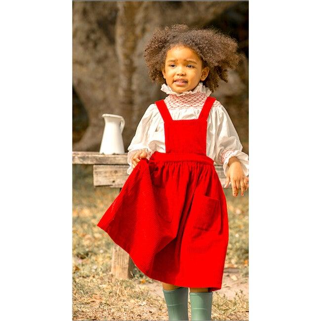 Alejandra Dress, Corduroy Brick