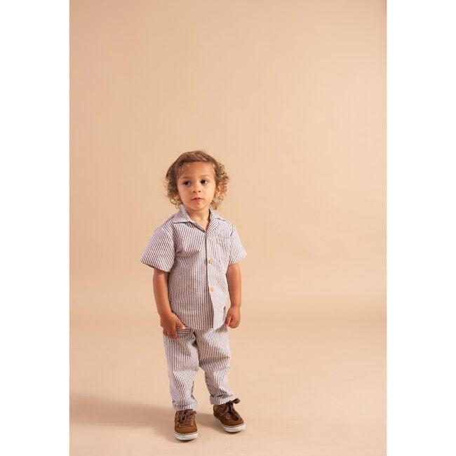 Imari Button Down Shirt, Cream & Mocha