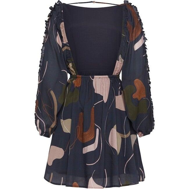 Women's Maja Dress, Mindful Escape Print Navy