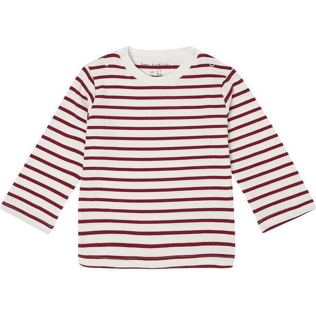 Organic Breton Stripe Top, Robin Red