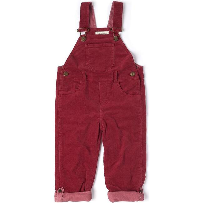 Corduroy Overalls, Robin Red