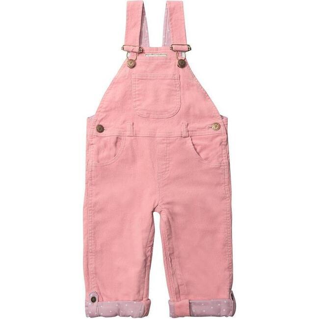 Corduroy Overalls, Pink