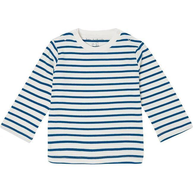 Organic Breton Stripe Top, Nordic Blue