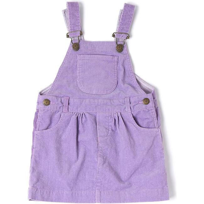 Corduroy Overall Dress, Lilac