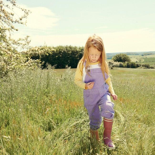 Corduroy Overalls, Lilac