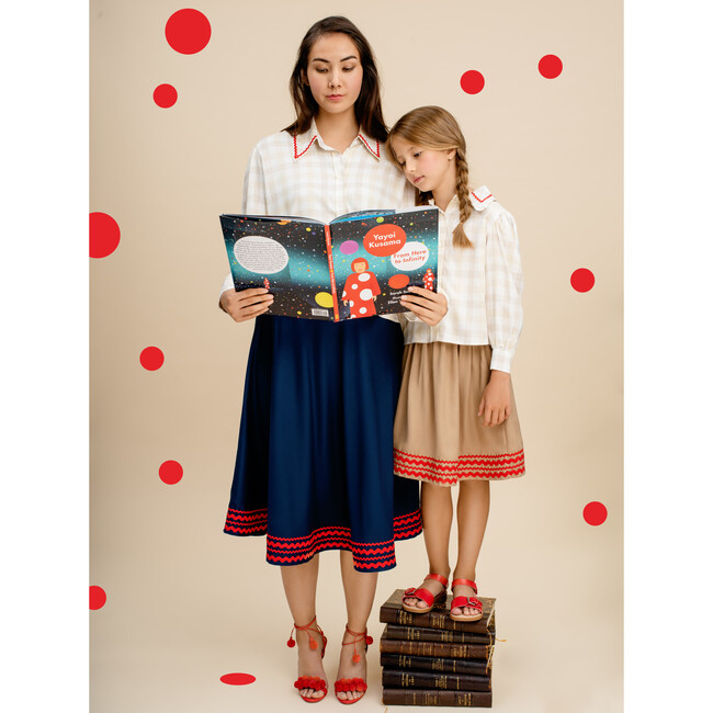 Petal Girls Skirt, Biscuit Brown