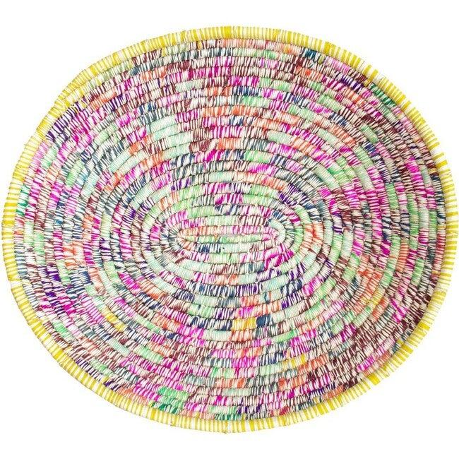 Handwoven Basket, Confetti