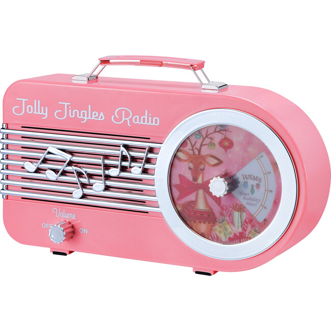 "10.5"" Jolly Jingles Radio, Pink"
