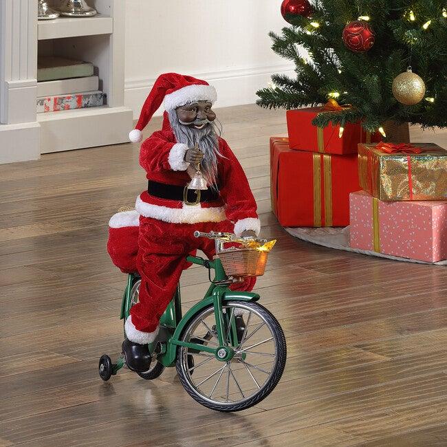 Cycling Santa, Dark Skin Tone