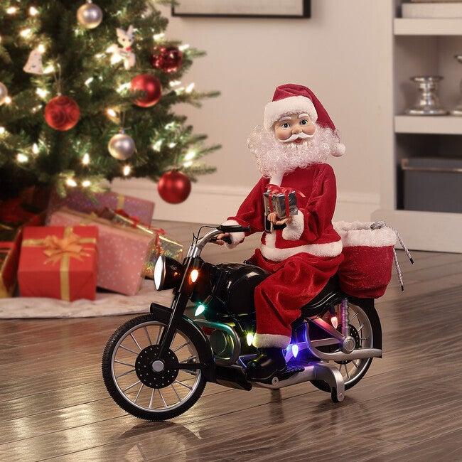 Motorcycling Santa, Light Skin Tone