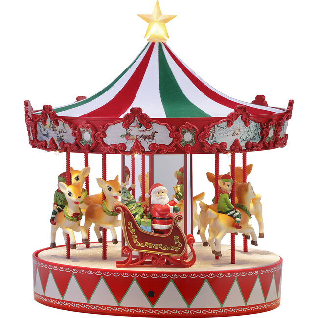"""13"""" Vintage Carousel, Multi"""
