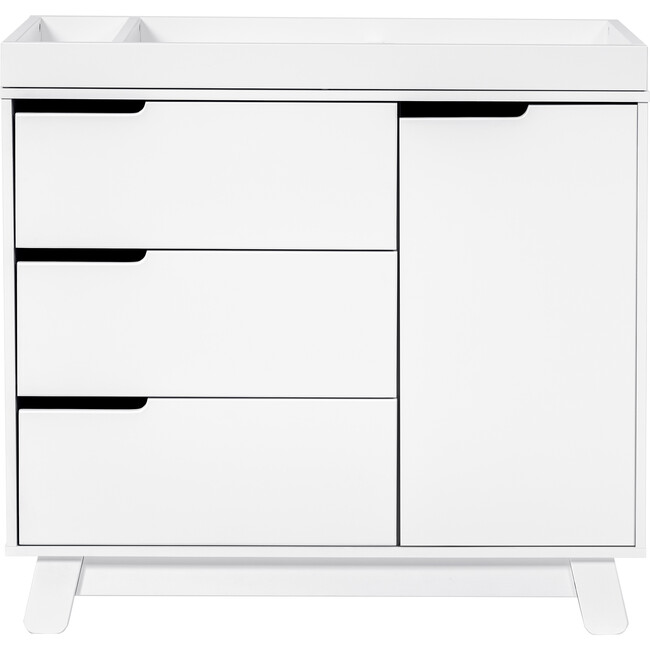 Hudson 3-Drawer Changer Dresser with Removable Changing Tray, White - Dressers - 1