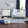Hudson 3-Drawer Changer Dresser with Removable Changing Tray, Grey/White - Dressers - 2