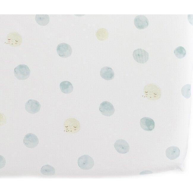 Luna Crib Sheet, Blue