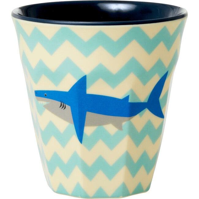 Set of 2 Medium Melamine Cups, Sharks