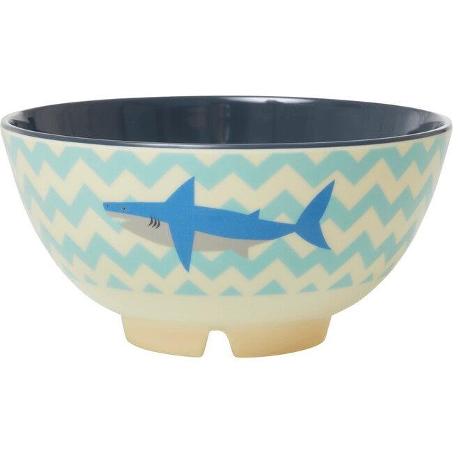 Medium Melamine Bowl, Shark