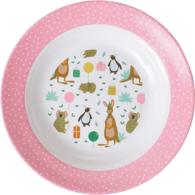 Melamine Kids Bowl, Party Animal Pink