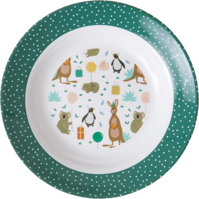 Melamine Kids Bowl, Party Animal Green