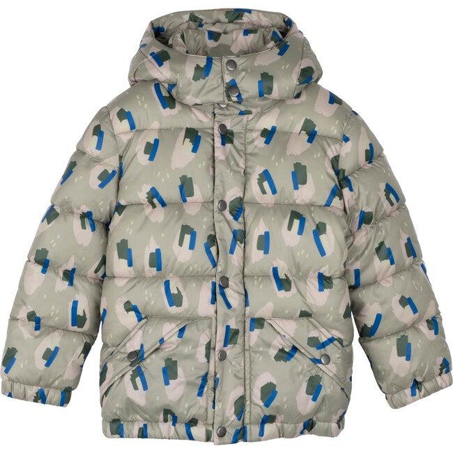 Rhodes Puffer Jacket, Blue Tonal Camo