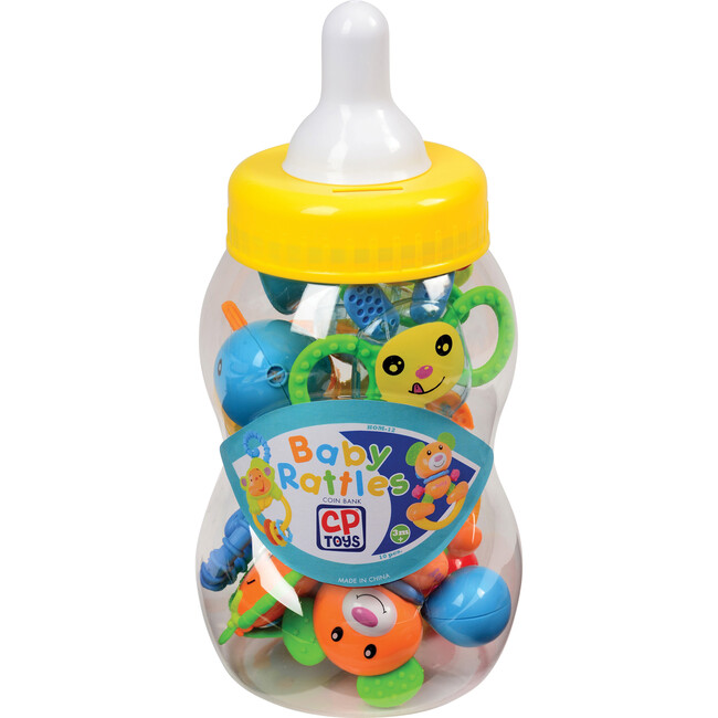Baby Rattle Teether Toys with Giant Coin Bank