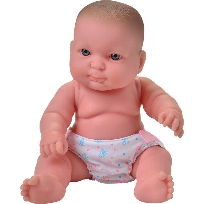 """10"""" Caucasian Huggable Baby Doll, White"""