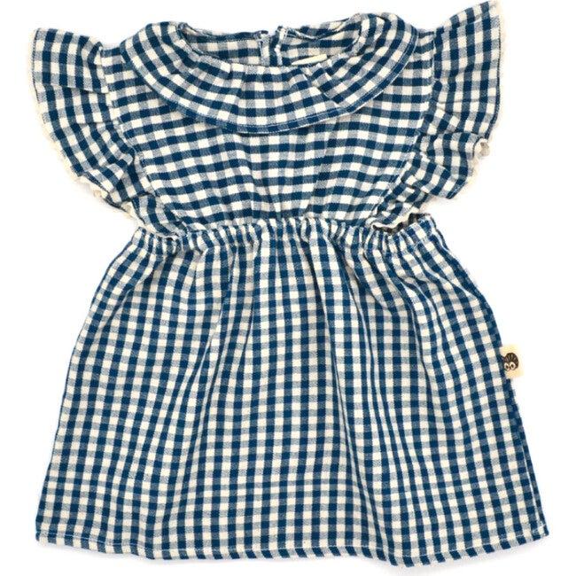 Mini Nora Jumper Skirt, Cobalt Check