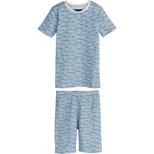 Emerson Short Sleeve Pajama Set, Blue Seagulls