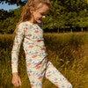 Taylor Long Sleeve Pajama Set, Kissing Fish - Pajamas - 2