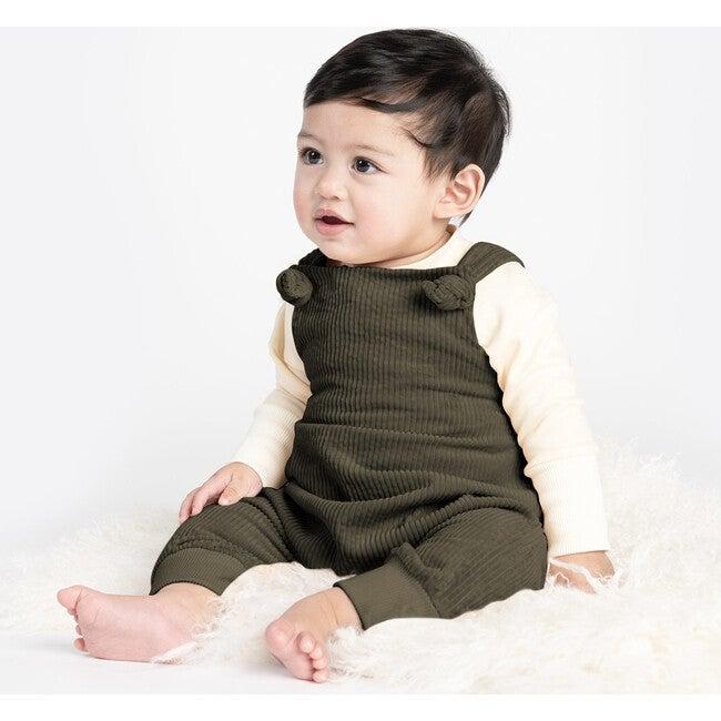 Baby Long Sleeve Henley, Cream