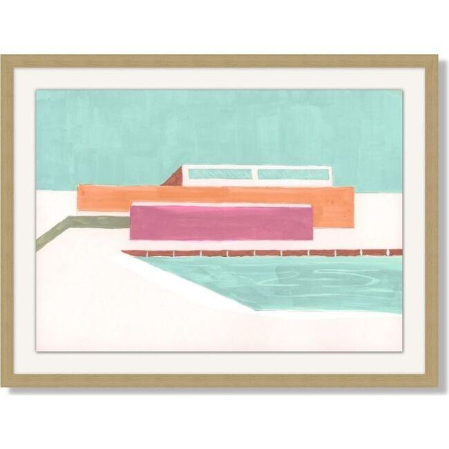 Expressionist Poolside by Nathan Turner Framed Art, Multi