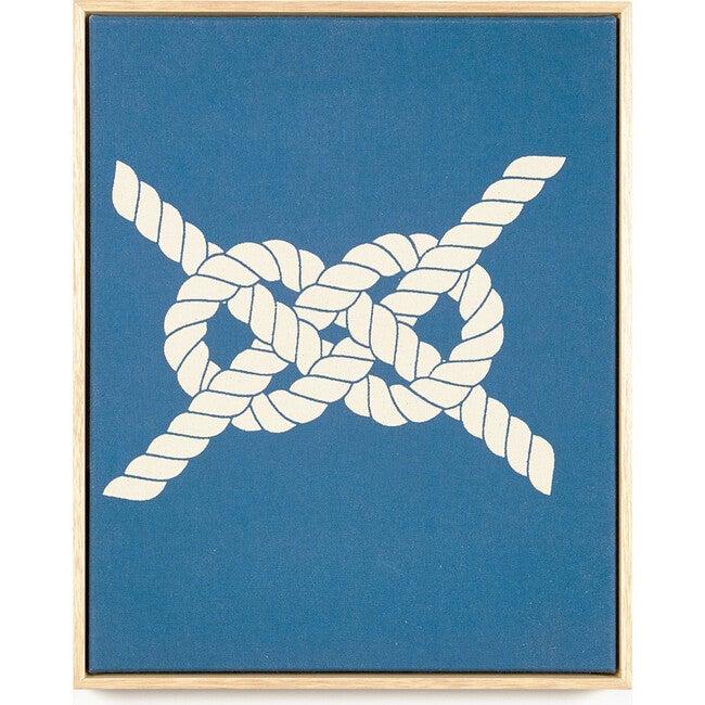 Salior's Knot Canvas Framed Art, Blue