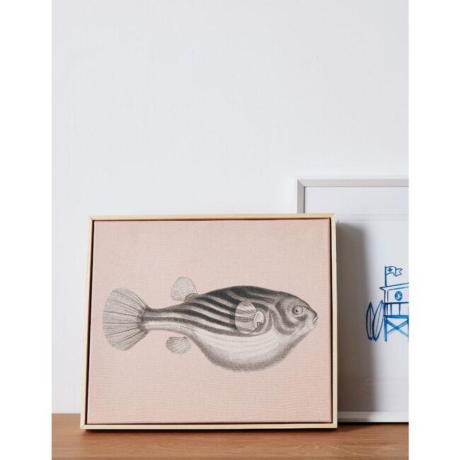 Blowfish Canvas Framed Art, Natural