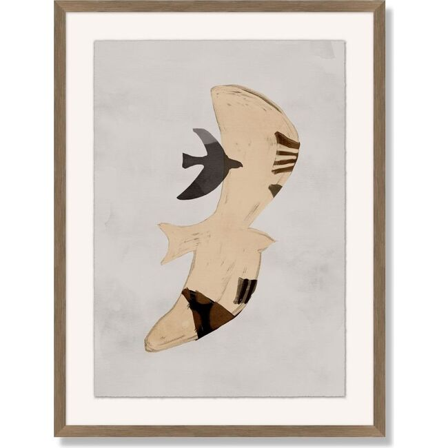 Night Bird Framed Art, Beige