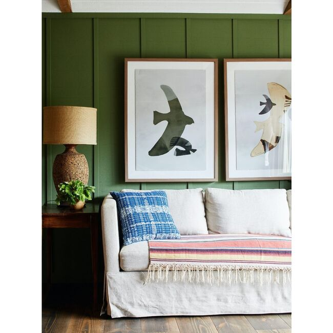 Night Bird Framed Art, Green