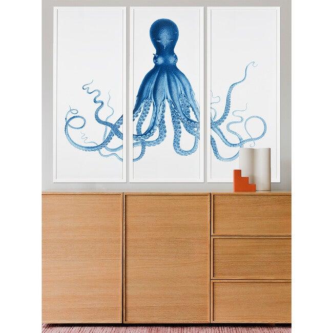 Pacific Octopus Framed Art, White