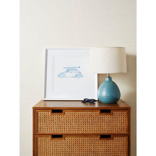 Malibu Surfrider Framed Art, Blue