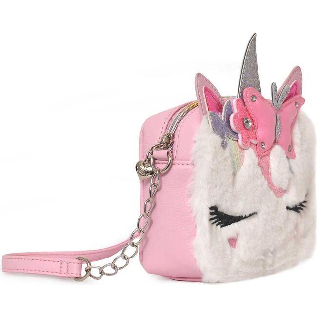 Miss Gwen Puffer Butterfly Crown Plush Crossbody, Pink