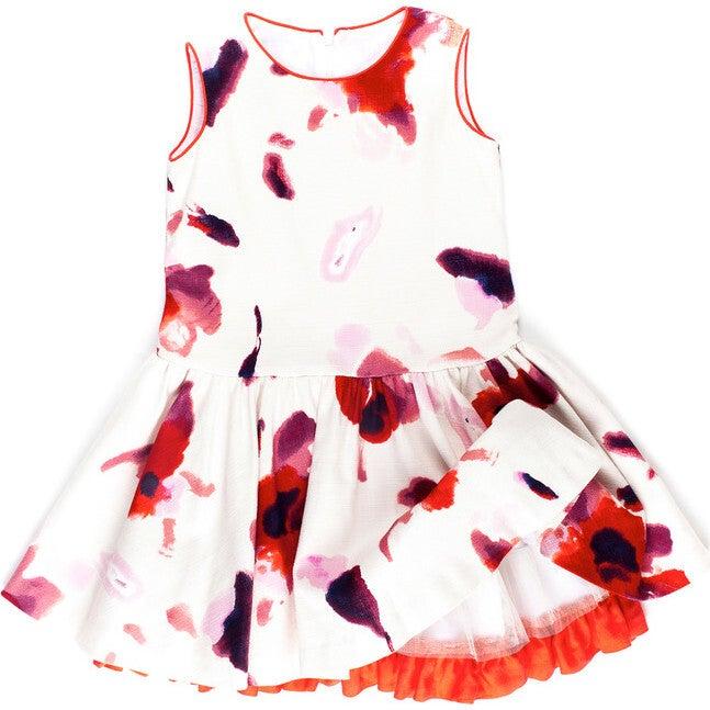 Elena Dress, Red Floral - Dresses - 1