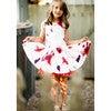 Elena Dress, Red Floral - Dresses - 2