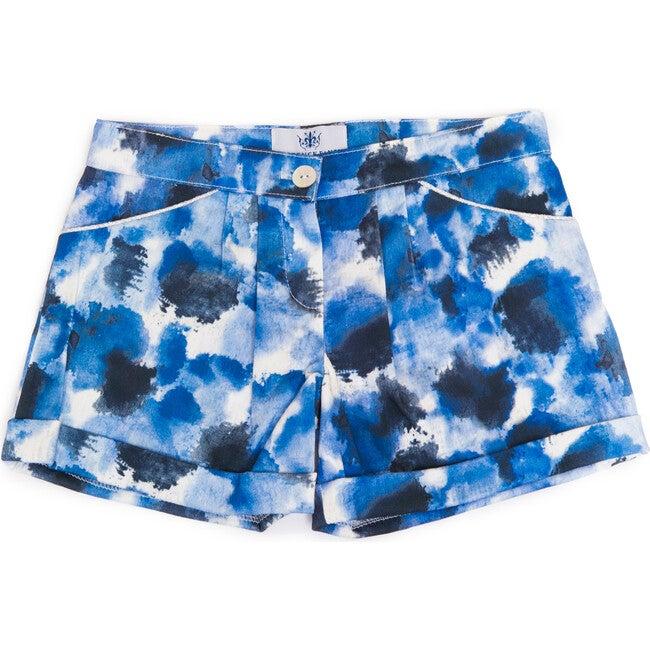 Printed Zoe Short, Blue - Shorts - 1