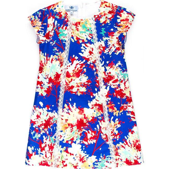 Ava Dress, Blue Floral
