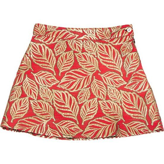 Leaf Skirt, Red