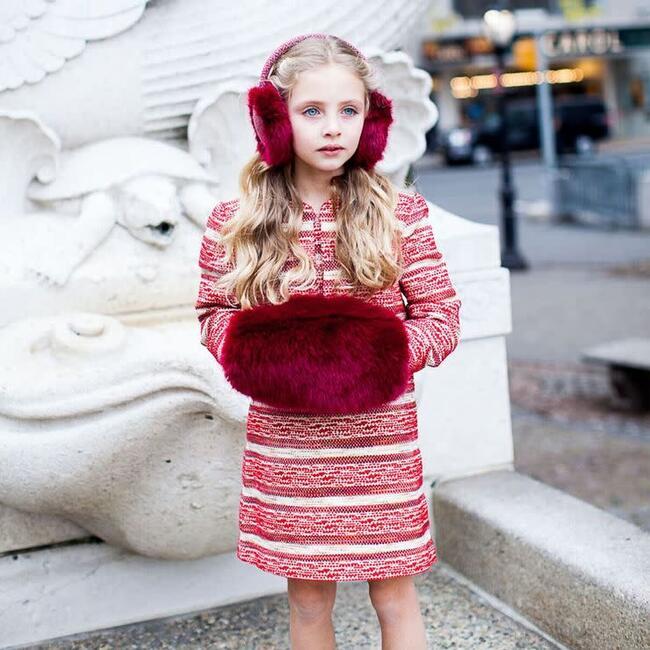 Eloise Tweed Dress, Red