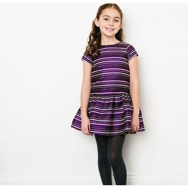 Striped Beverly Dress, Purple